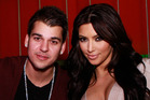 Rob Kardashian with his sister, Kim Kardashian. Photo / Getty Images