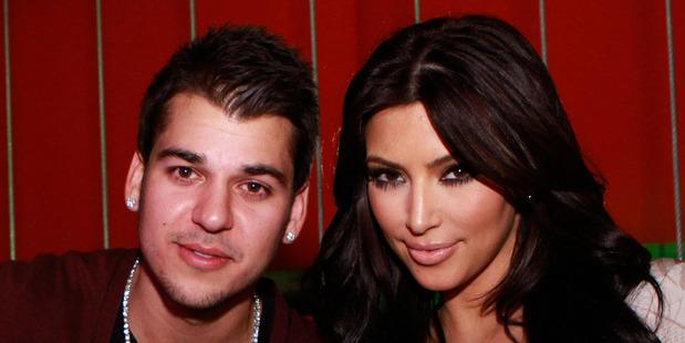 Rob Kardashian with his sister, Kim Kardashian. Photo / Getty Images