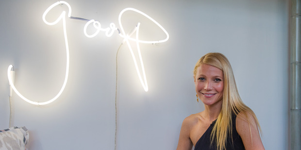 "Paltrow says she regrets being a little ""earnest"" when she started to produce content for the site. Photo / Getty"