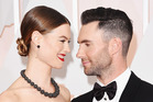Singer Adam Levine (L) and model Behati Prinsloo attend the 87th Annual Academy Awards. Photo / Getty Images