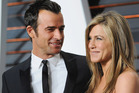 Actor Justin Theroux and actress Jennifer Aniston arrive at the 2015 Vanity Fair Oscar Party. Photo / Getty
