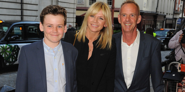 Zoe Ball, Norman Cook and their Son Woody Cook attends the UK Gala screening of Man Up on May 13, 2015. Photo / Getty