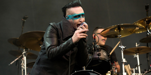 Marilyn Manson performs at MAPFRE Stadium on May 15, 2015 in Columbus, Ohio. Photo / Getty