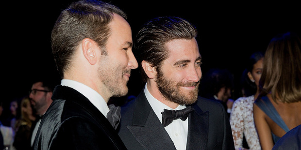 Tom Ford and Jake Gyllenhaal attend dinner for the amfAR 22nd Annual Cinema Against AIDS Gala at Hotel du Cap-Eden-Roc on May 21, 2015 in Cap d'Antibes, France. Photo / Getty