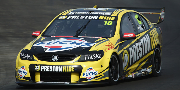 Lee Holdsworth during a V8 Supercars test day at Winton International Raceway. Photo / Getty Images