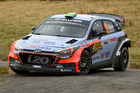 Hayden Paddon ]during the Shakedown of the WRC Germany. Photo / Getty Images