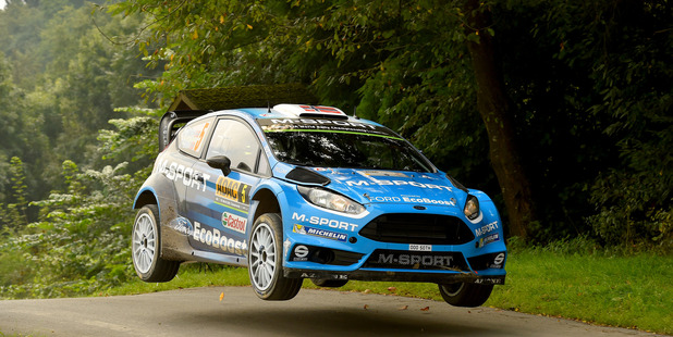 Mads Ostberg during the WRC Germany. Photo / Getty Images
