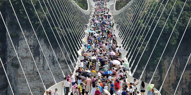 The response was overwhelming when the bridge opened in August. Photo / Getty Images