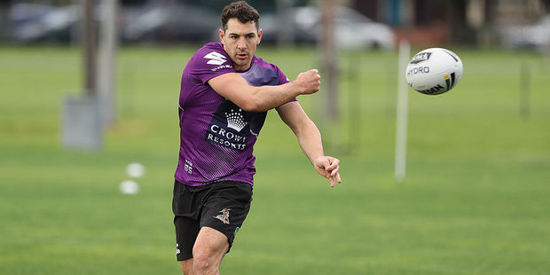 Billy Slater of the Melbourne Storm at training. Photo / Getty