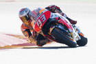 Marc Marquez during qualifying of the MotoGP of Spain. Photo / Getty Images