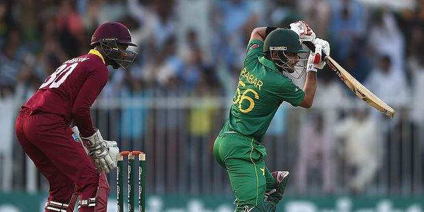 Babar Azam's maiden century set Pakistan up for victory. Photo / Getty Images