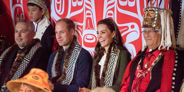 William and Kate visit the island of Haida Gwaii during the Royal Tour of Canada. Photo / Getty Images