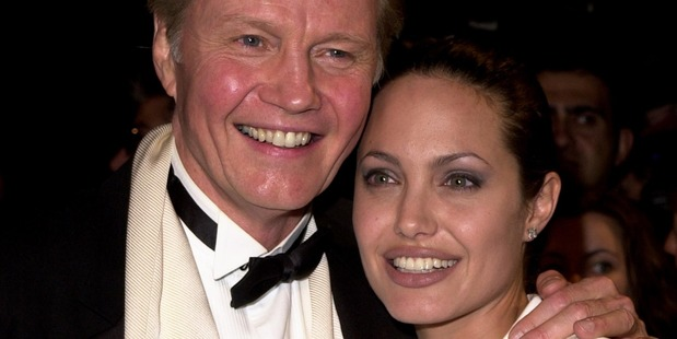 Jon Voight and daughter, Angelina Jolie. Photo / Getty
