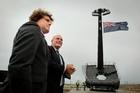 Rocket man, Peter Beck, Stephen Joyce economic development minister, Rocket Lab launch pad, Mahia Penninsula, Hawke's Bay.