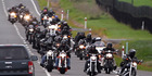 The Hawke's Bay Harley Motorcycle Club annual spring run fundraising ride, supporting youth cancer charity CanTeen. Turning off SH50 Maraekakaho Rd into Valley Rd, Maraekakaho. PHOTO/DUNCAN BROWN