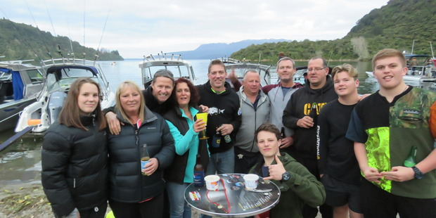 Keen fishers get ready for opening day at The Landing last night. PHOTO/SUPPLIED