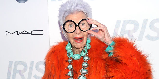 Iris Apfel's dress sense is nothing short of extroverted. Photo / Getty