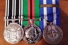 Former Lance-Corporal Paul Chambers has been reunited with his stolen medals, awarded during two tours of Afghanistan. Photo/ supplied