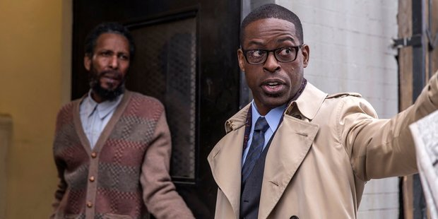 Ron Cephas Jones as William and Sterling K. Brown as Randall in a scene from This Is Us. Photo / NBC