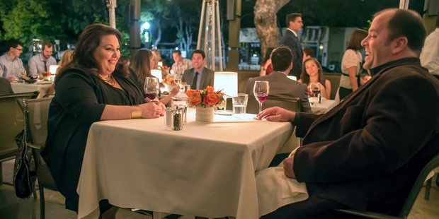 Chrissy Metz as Kate and Chris Sullivan as Toby in a scene from This Is Us. Photo / Ron Batzdorff, NBC