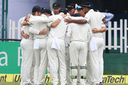 New Zealand team during the first test match India against New Zeland in Kanpur. Photo / Photosport.co.nz