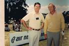 Paul Gleeson and Arnold Palmer in 1978. Photo / Paul Gleeson
