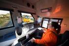 Hamilton-based locomotive engineer tina Flack, one of the drivers involved in KiwiRail's fuel -saving programme. Photo / Brendon O'Hagan