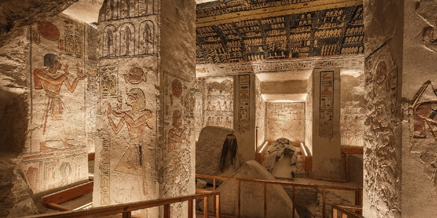 Ramesses VI burial chamber inside the Valley of the Kings in Luxor, Egypt. Photo / jakubkyncl.com
