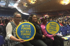Teachers Margaret Murray, Rosina Wikiara, and May Terangi Tamati at a South Auckland meeting school funding. Photo/Lincoln Tan