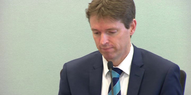 Colin Craig giving evidence in his defamation hearing. Photo / Supplied