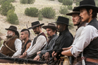 A scene from the movie The Magnificent Seven, starring Ethan Hawke, Denzel Washington and Chris Pratt.