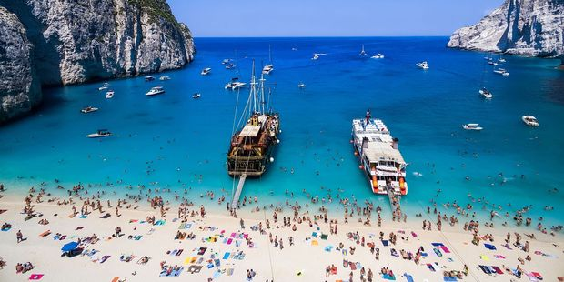 Popular Navagio beach on Zakynthos. Photo / 123RF