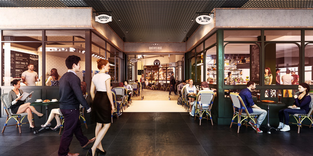 The Queen's Rise precinct on Queen St central Auckland will open early 2017. Photo / Supplied