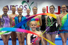 HIGH HOPES: Members of the Bay of Plenty rhythmic gymnastics team in final training before this week's nationals. PHOTO/ANDREW WARNER