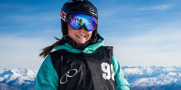 WELL DONE: Lily Balsom is one of New Zealand's top young talented freeride skiers. Photo/Supplied