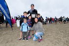Josh, 11, Ava 7, Dallas, 39, Alex, 9, CJ and Cohen Telford, 4 at the City to Surf event. Photo/George Novak