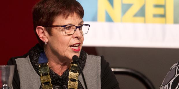 Loading NZEI Te Riu Roa president Louise Green at the union's annual conference in Rotorua. PHOTO/STEPHEN PARKER
