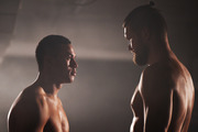 Joseph Parker faces off agaisnt Russian boxer Alexander Dimitrenko at the Duco Offices in Auckland 26 July 2016 picture supplied credit: Photosport.co.nz
