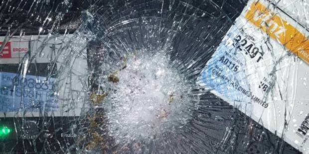 Towtruck driver Junior Murray was on the way to a car crash in the early hours of Sunday morning when something was thrown at his windscreen, smashing it. Photo/supplied