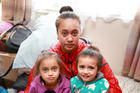 Faith Davis kept only two of her three children, Ariana (left) and Aaron, after a motel told her it could not take all three children despite her emergency housing grant. Photo / Doug Sherring