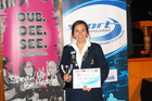 OFFICIAL RECOGNITION: Renee Harrison celebrates winning the 2015 WSS Official of the Year title.
