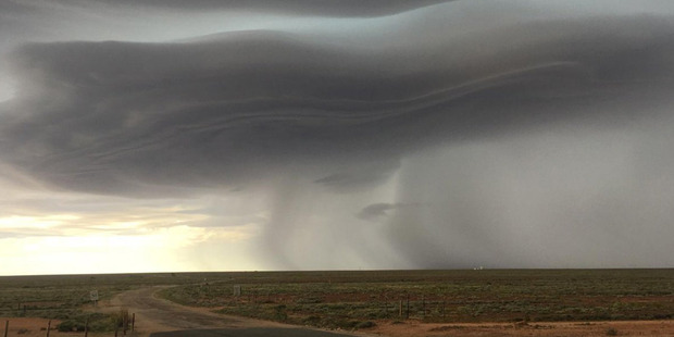 Loading Power is cut to all of South Australia as severe storms hit. Photo / Twitter
