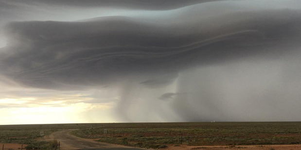 Wild weather: Storms in South Australia yesterday. Photo / Supplied
