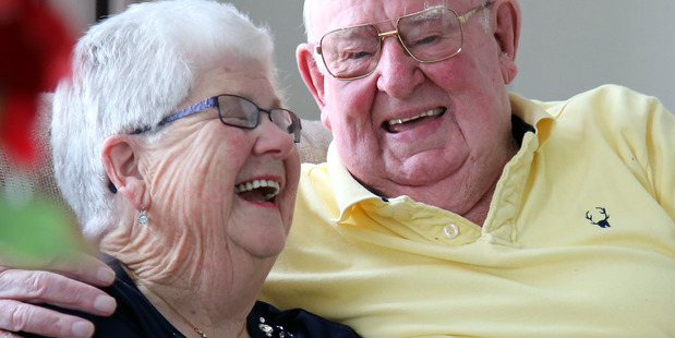 Alan and Val Watson are celebrating their 65th wedding anniversary today. PHOTO/STUART MUNRO