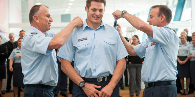 Richie McCaw has been appointed a wing commander in the Royal New Zealand Air Force.