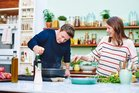 Jamie Oliver and wife, Jools, from the book Super Food Family Classics. Photo / Paul Stuart