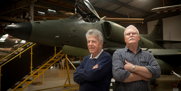 Stewart Boys (left) and Alan Reynolds are the local organisers of this weekend's 75 Squadron RAF/RNZAF Association of New Zealand reunion that marks the 100th anniversary of the squadron's formation. Photo / Andrew Warner