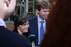 Colin Craig has spoken out in support of his wife Helen, who has stood by him. Photo / Nick Reed