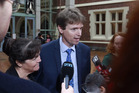 Colin Craig and his wife Helen outside the High Court in Auckland after losing his defamation case brought by Jordan Williams. Photo / Nick Reed