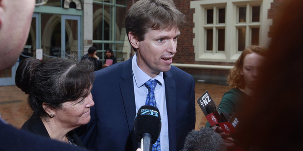 Loading Colin Craig and his wife Helen outside the High Court in Auckland after losing his defamation case brought by Jordan Williams. Photo / Nick Reed